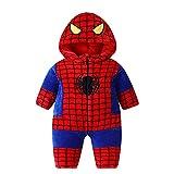 DHRR Baby Romper Spider.Man Pijamas de algodón de Manga Larga Pijamas de Invierno Ropa de Dormir para recién Nacidos de 0-24 Meses