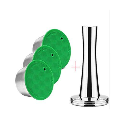 LKSPD Links stainless steel capsule suitable for ground coffee filter (Color : 3 capsule 1tamper)