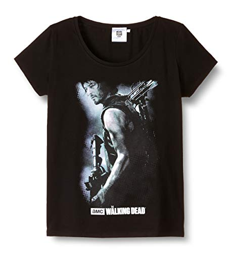 ABYstyle Abysse Corp_ABYTEX38908 Walking Dead - T-Shirt Daryl Armbrust Woman Ss - Basic, Schwarz (Black) , L
