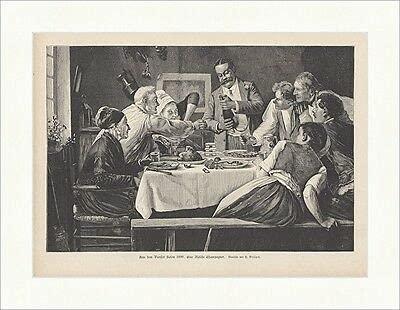 Kunstdruck Una botella de champán Brispot Gasthaus comer, beber, madera punto E 17162