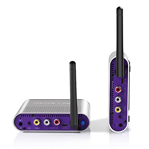 MEASY AV550 5.8 GHz AV inalámbrico de Audio y Video emisor de transmisor y Receptor con Control Remoto IR 500m (1650ft) para DVD/DVR / IPTV/CCTV