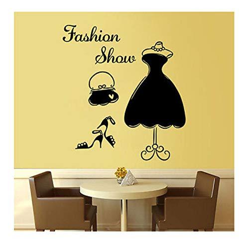 hfwh wandstickers, doe-het-zelf, dames, kostuum, wand, kunst, vinyl, zelfklevend, wandstickers, bedroom-decoratie, 43 x 52,5 cm