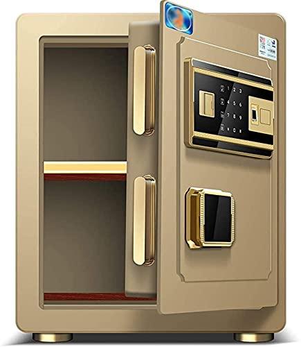 CXSMKP Caja Fuerte -Seguridad Safe Biométrico Mecánico Caja Seguridad Documento Bolsa Segura para Office Hotel Jewelry Gun Medicamentos en Efectivo