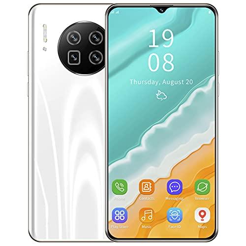 Teléfono Inteligente Desbloqueado, Pantalla de Gota de Agua de 6.26'Teléfono Inteligente Android con desbloqueo Facial, 1 + 8GB de Memoria Tarjeta SIM Dual Teléfono móvil(Blanco)