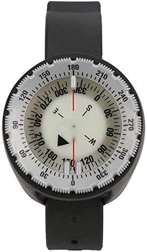 N\A Reloj de Pulsera Balanced Tipo compás Impermeable Luminoso Buceo Brújula for el Salto Natación S (Color : Black, Size : -)