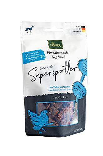HUNTER TRAINING Hundesnack, getreidefrei, ohne Zuckerzusatz, 70 g, Supersportler