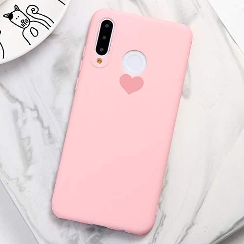 Pnakqil Cover Samsung Galaxy A5 (2016),Ultrasottile Morbida Silicone Protettiva Colore Candy Rosa Impermeabile Antiurto Disegni San Valentino Regalo Custodia per Samsung Galaxy A5 (2016),Cuore Rosa