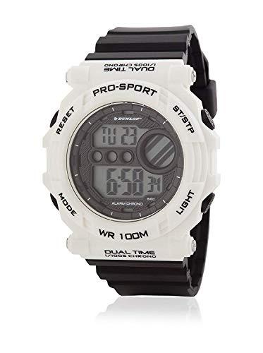 Dunlop Unisex Erwachsene Digital Quarz Uhr mit Gummi Armband DUN234G11