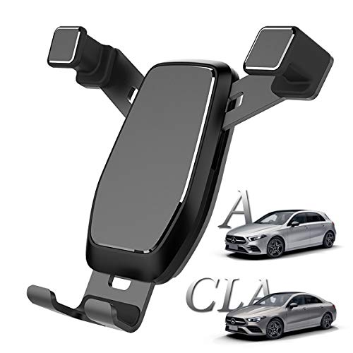 AYADA Porta Cellulare Compatibile con Mercedes-Benz Classe A W177 CLA C118, Supporto Cellulare Nuova Versione Gravità Auto Lock Stabile Facile da Installare V177 X118 2020 2021 180 200 220 Accessori