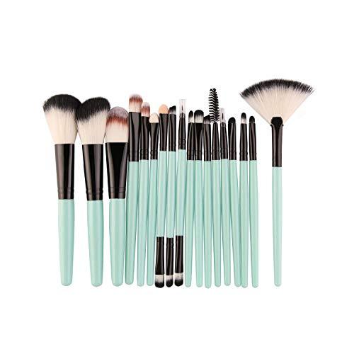 Ensemble de 18 pinceaux de maquillage avec des outils de beauté en forme d'éventail-S-LH18 Supporting Brush with Fan Shape Makeup-