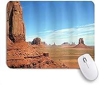 MISCERY マウスパッド アメリカの記念碑の谷砂岩丘岩荒野西部砂漠の風景 高級感 おしゃれ 防水 端ステッチ 耐久性が良い 滑らかな表面 滑り止めゴム底 24cmx20cm