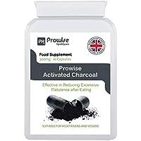 Carbón activado 300mg - 60 cápsulas - Reino Unido Fabricado con GMP Calidad garantizada - Adecuado para vegetarianos y veganos Por Prowise Healthcare