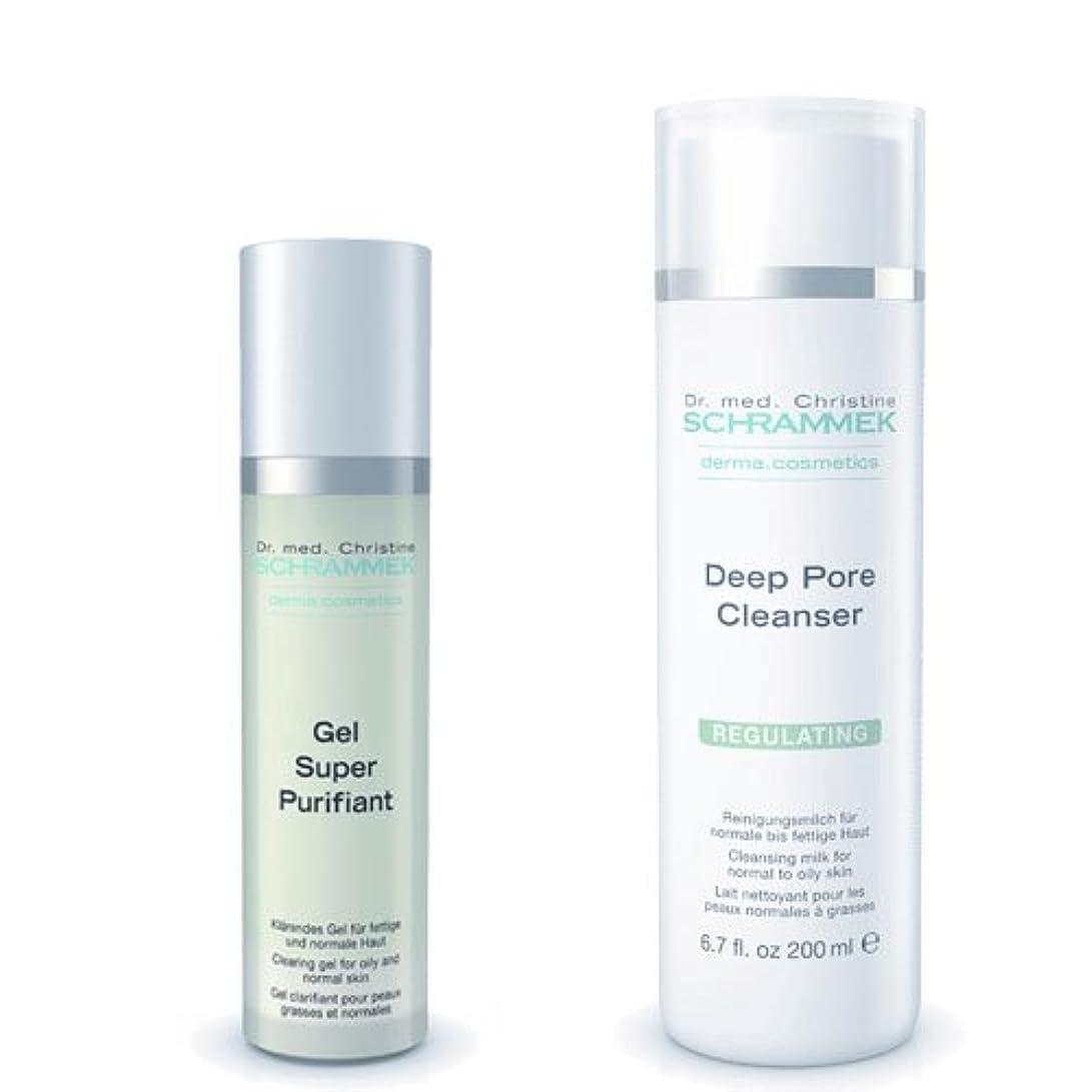 デュアル飢饉意識シュラメック 「GREEN PEEL 洗顔2点セット(脂性肌用)」 ディープポアクレンザー&ジェルスーパーピュリフィアント