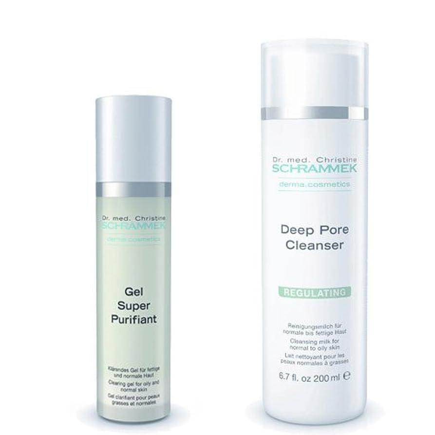 汚染するあいにくクルーズシュラメック 「GREEN PEEL 洗顔2点セット(脂性肌用)」 ディープポアクレンザー&ジェルスーパーピュリフィアント