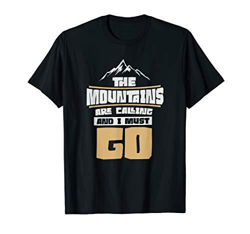 Berge rufen Bergsteigerhandys an T-Shirt