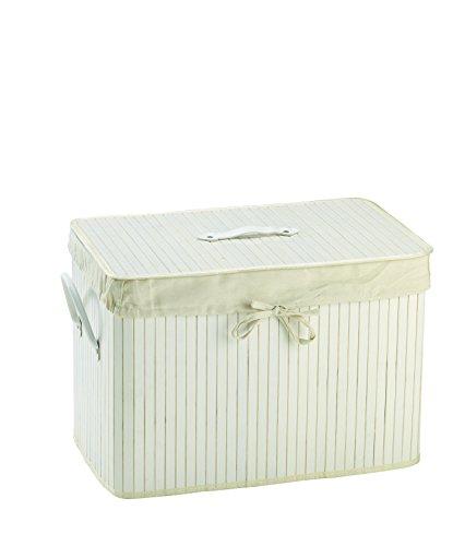 King Home P1120207 Bambu kosz na pranie prostokątny, mały, 52 x 32 x 36 wys
