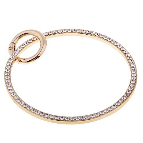 Daily Mall Metall Ring/Rund/Rundgeldbeutel Griff Mit Spring Gate O Ring Für - Gold