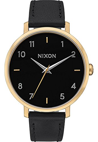 Nixon dames analoog kwarts horloge met lederen armband A1091513-00