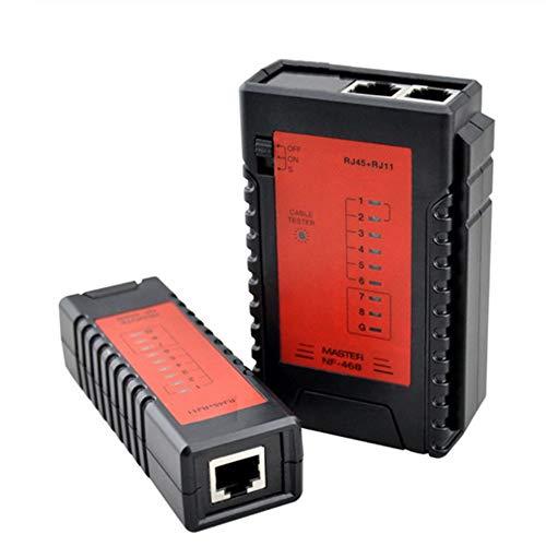 YEZIO Probador de Cables NF-468 de Red LAN Ethernet Cable Tester RJ45 RJ11 PoE del teléfono del teléfono del perseguidor del Alambre Diagnosticar Tono trazador