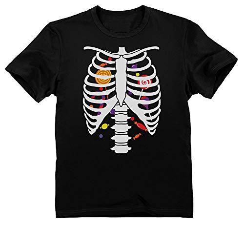 Green Turtle T-Shirts Camiseta para niños - Estampado Esqueleto y Dulces Halloween 5/6 Años 116cm Negro