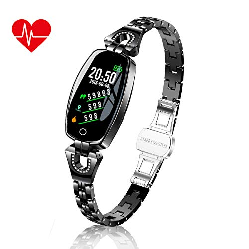 TMYIOYC Fitness Tracker, Smart Bracelet for Women, Activity Tracker with Heart Rate Monitor, Step Counter, Message Notification, Blood Pressure Monitor, Workout Tracker, Sleep Monitor Fitness Watches