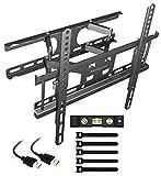 Alaskaprint TV Wandhalterung Schwenkbar Neigbar TV Halterung für 20-60 Zoll Fernseher Flach & Curved LCD LED, Monitor(58-140CM) bis zu 50kg, VESA 200x200-400x400