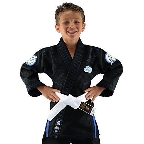 Bõa Leão Kimono de Jiu Jitsu, Niños, Negro, M2 (120)