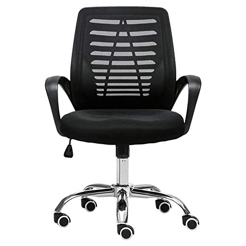 XKKD Bureaustoel, draaistoel van ademende netstof, gevoerd, 200 kg, zwart