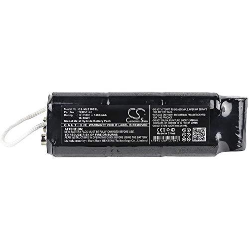 CS-MLE100SL Batería 1400mAh Compatible con [MINELAB] Excalibur 1000, Excalibur 800 Metal Detector, Excalibur II Metal Detector, Excalibur II PODS, Excalibur Sword, Sword Detector sustituye TER51140