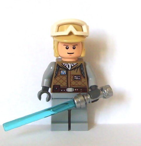 Lego Star Wars Mini Figure - Luke Skywalker Hoth with Lightsaber (Approximate
