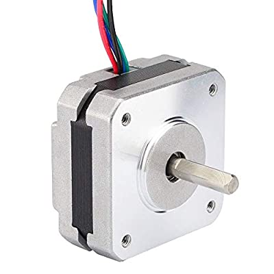 Mifive 17Hs08-1004S 4-Lead Nema 17 Stepper Motor 20Mm 1A 13Ncm(18.4Oz.in) 42 Motor Nema17 Stepper for DIY 3D Printer CNC Xyz