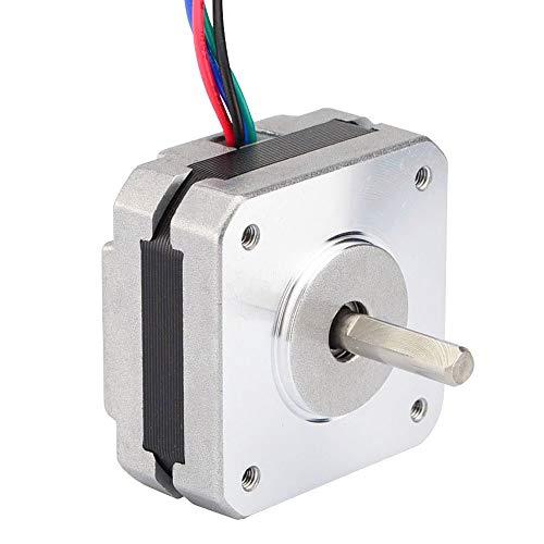 Senmubery 17Hs08-1004S - Motore passo-passo a 4 conduttori Nema 17 20mm 1A 13Ncm(20oz) 42 motori Nema17 passo passo per stampante 3D fai da te CNC Xyz