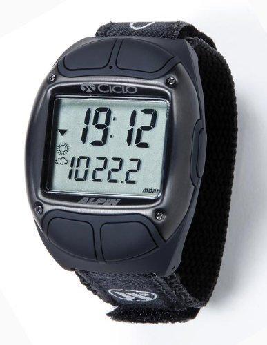 Ciclosport Marken-Sportuhr Alpin Black (Black mit Herzfrequenzmessung)