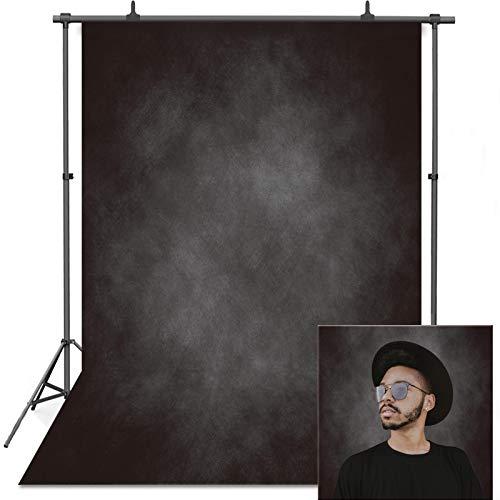 VEOEOV - Sfondo fotografico professionale, 1,5 x 2,2 m, anti-rughe astratto nero, sfondo per fotografie, bambini, adulti, testa di famiglia