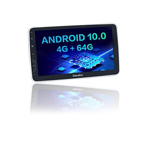 Dasaita Autoradio Bluetooth 2 Din Universal Autoradio Carplay Android Auto Radio DAB GPS WIFI AM FM Android 10.0 Stéréo Auto 4G RAM + 64G ROM Écran tactile de 10,2'