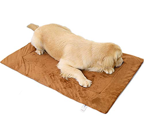 Rantow Waterproof Dog Mat Bed - Washable Pet Blanket Soft Warm Plush Puppy Cat Cages Crate Mattress for Small Medium Large Pets, Non Slip for Outdoor Indoor Sofa Bed