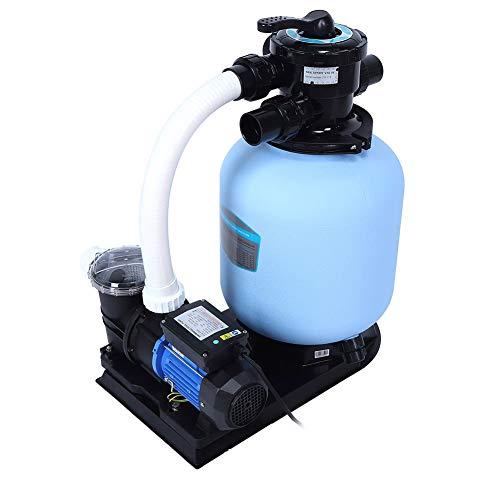 Bomba de filtro de agua de piscina, 4.50m³ / h, Sistema de filtrado de Arena(EU Plug)