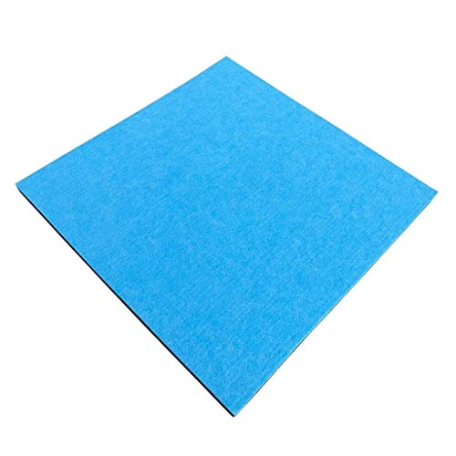 Movie Room Acoustic Panels, eenvoudig te installeren Multicolor Geluidsabsorberende Cotton Huishoudelijke Commercial Geluidsisolatie Cotton (Color : Blue)