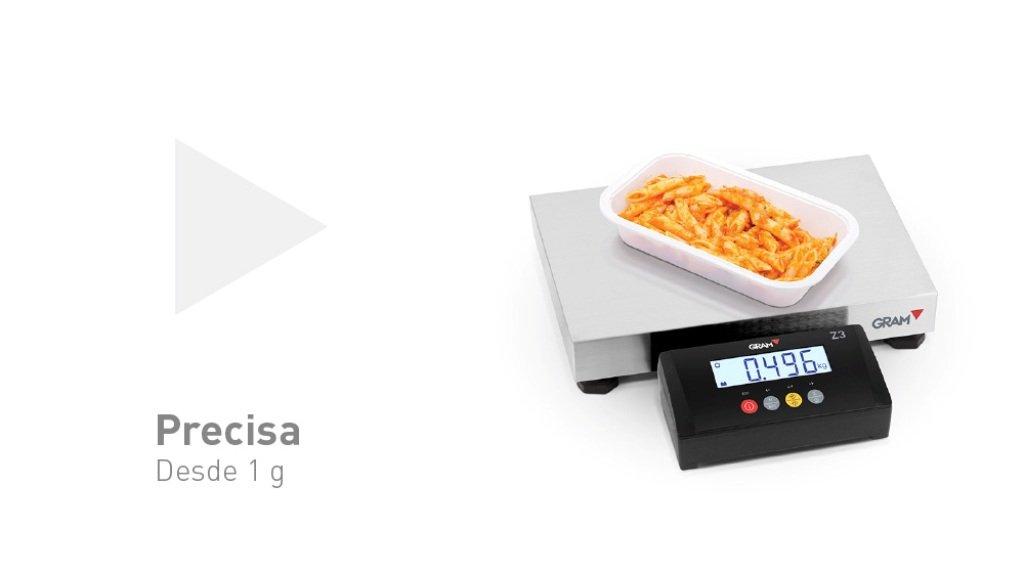 Báscula Plataforma de peso GRAM z3t con visor incorporado. (400x300) 15Kg/2g.Modelo 2017