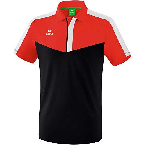 erima Squad Sport Polo, Hombre, Rojo, Negro y Blanco, XXXL