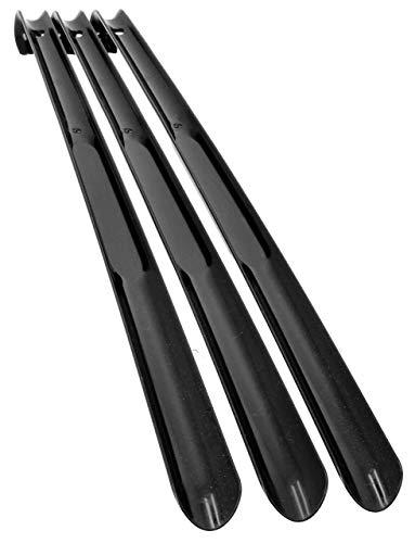 Lantelme 3 Stück 65 cm Schuhanzieher schwarz Schuhlöffel Kunststoff 65 cm