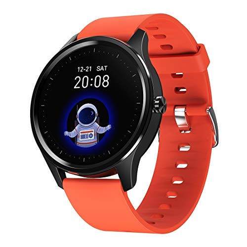 N / A Smart Wear 1.3 inch Round Touch Always-on Screen Smart Watch, Support Heart Rate Monitoring/Sleep Monitoring/Pedometer/Calories (Color : Orange)