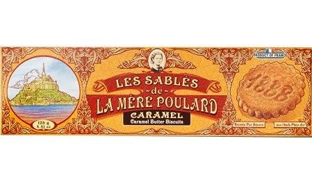 La Mere Poulard 1888 Biscotti al Puro Burro Salato e Caramello - 1 x 125 Grammi