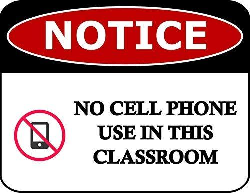 2 unidades de estante superior novedades aviso no uso de teléfono celular...