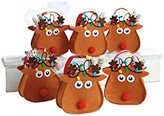 Reindeer Felt Treat Bag - Set of 6 (1 Design)