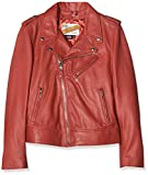 Schott NYC Lcw1601d Chaqueta, Rojo (Red Red), XX-Large para Mujer