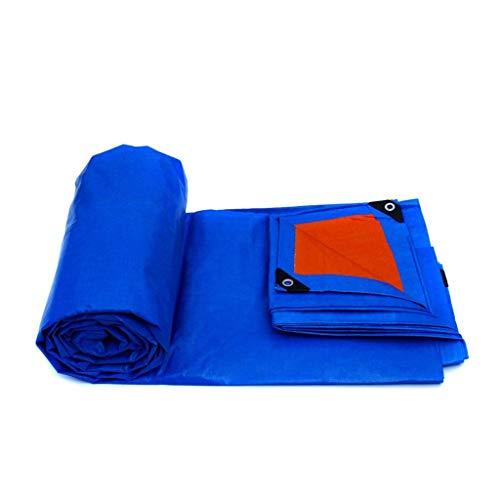 GOUDU Lona Impermeable Resistente, Hoja De Lona Azul Universal - Cubierta Hecha De Lona De Polietileno De Alta Densidad 4mx3m