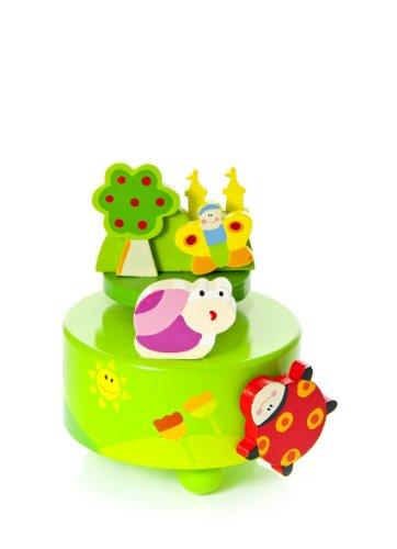 Mousehouse Gifts Boite à Musique Enfants bébés Filles ou garçons en Bois - Coccinelle & Papillon pour Enfants Fille ou garçon