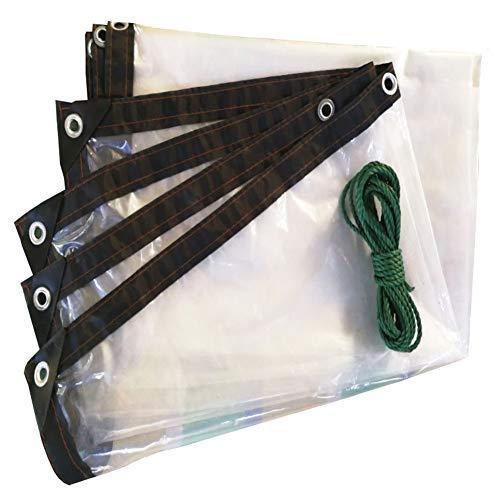 ANHPI-tarpaulin Épaissir Bâche Transparente Imperméable Imperméable Imperméable Feuille De Plastique Fleur De Plante Fenêtre du Navire à Vapeur Film Coupe-Vent à Effet De Serre,5×6M