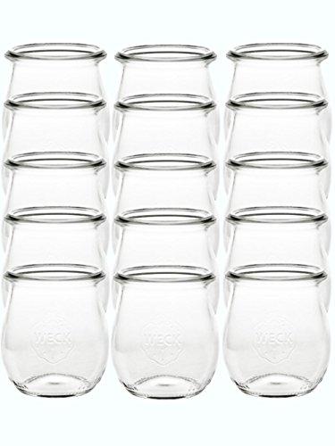 Weck - Juego de 12 tarros de cristal (220 ml)